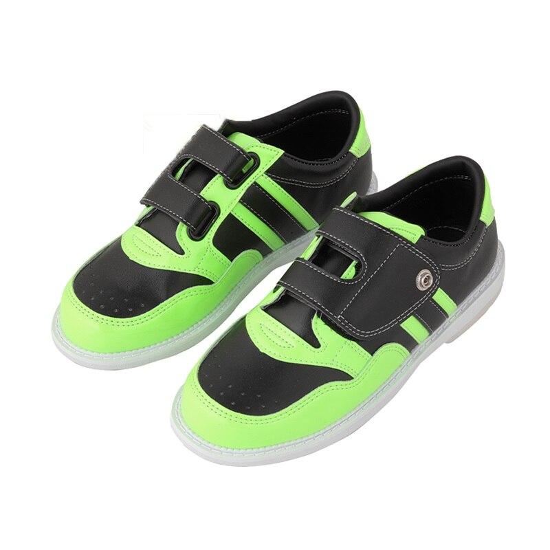 الرجال النساء البولينج الأحذية مع Skidproof الوحيد أحذية رياضية المهنية للجنسين خفيفة الوزن تنفس أحذية رياضية البولينج لوازم