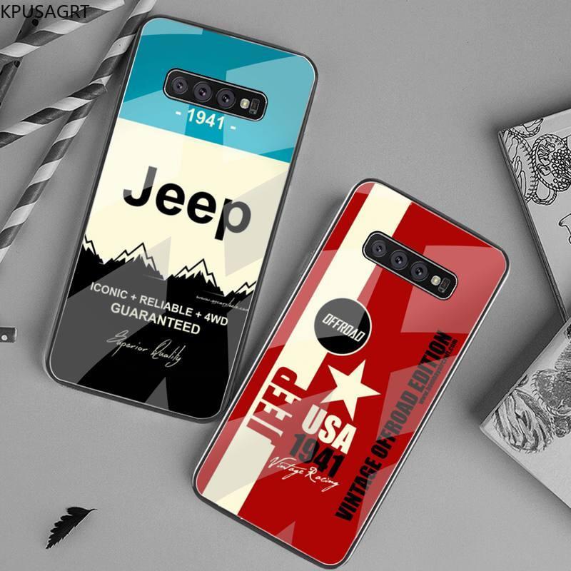 Funda de teléfono negra American JEEP Car para Samsung S20 Plus S7 S8 S9 S10 Plus Note 8 9 10 Plus