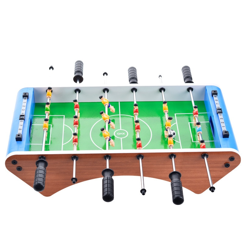 Máquina de fútbol de mesa creativa juguetes para niños mesa grande de seis bares juegos de fútbol para niños minipelota de fútbol única