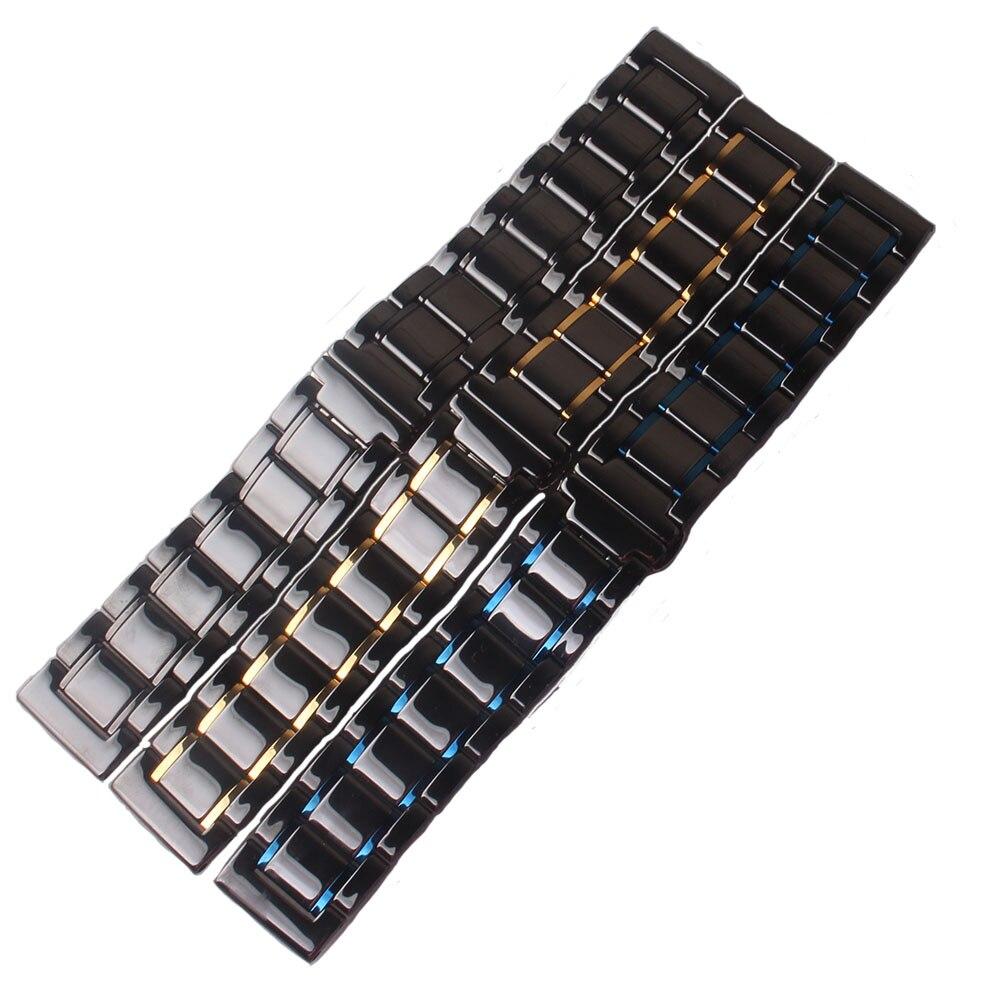 Pulseiras de Relógio Preto com Ouro 24mm para Galaxy Polido Azul Vermelho Cerâmica Alta Qualidade Pulseiras 20mm 22mm 23mm Relógios