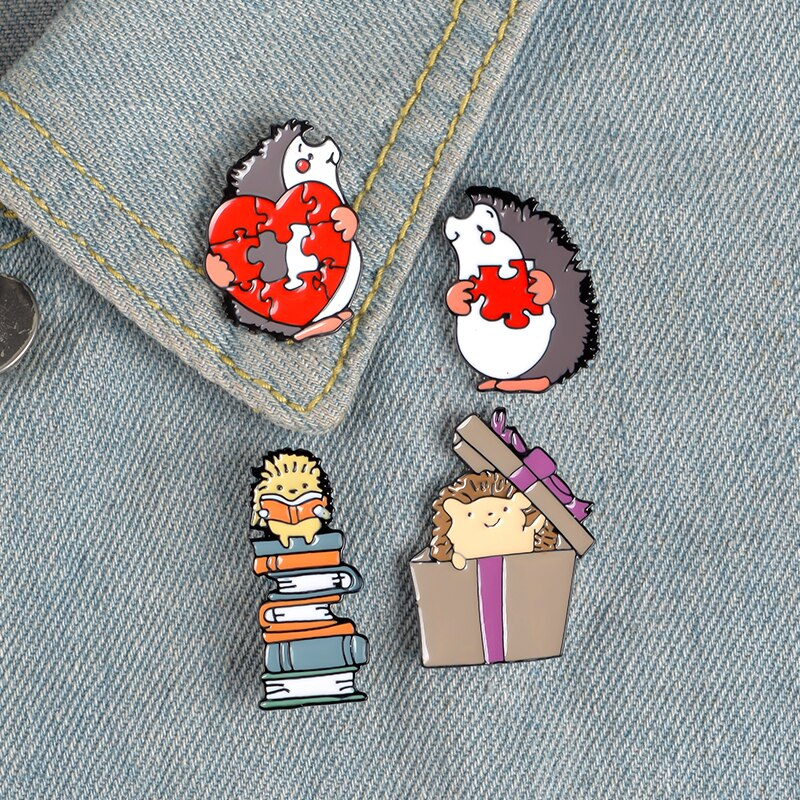 3-/ set strawberry white cat game color apple walking fruit animal planet pizza chinchilla hedgehog value pin set jewelry  - buy with discount