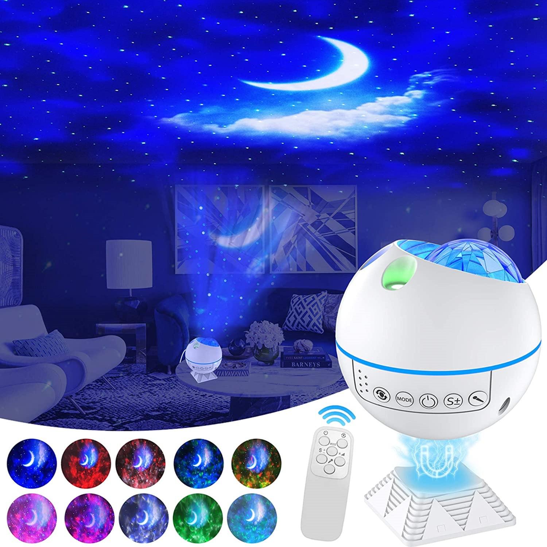 جهاز عرض ليزر ستار جالاكسي 360 برو مون أوشن لغرفة النوم ضوء ليلي 40 وضع إضاءة مع جهاز تحكم عن بعد هدية للأطفال والكبار