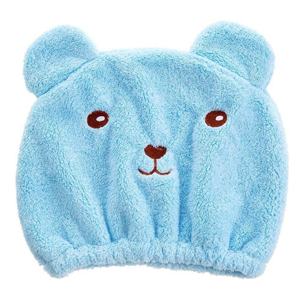 Secado de cabello de microfibra toallas lindo baño toalla Ultra suave y absorbente gorro para secar el pelo de secado rápido baño tapa para las mujeres