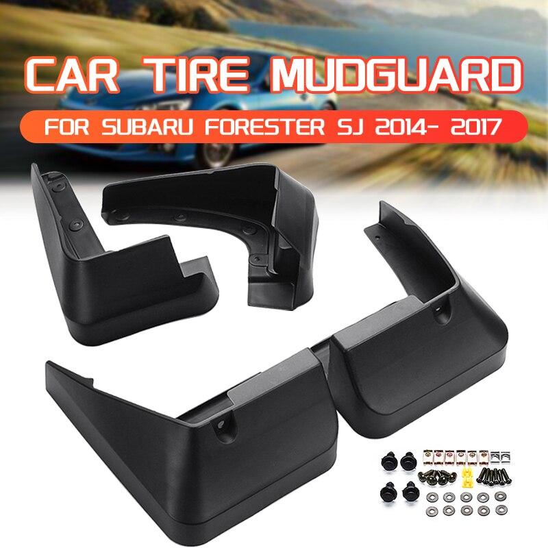 Guardabarros de coche guardabarros negros guardabarros para Subaru forestal SJ 2014 - 2017