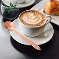 16pcs stainless steel coffee mixing spoon dessert spoon flower tea spoons kitchen hot drinking tableware