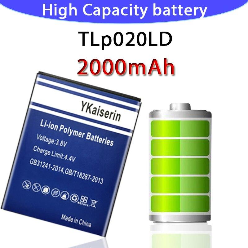 Batería de repuesto para teléfono 2000mAh TLp020LD para TCL P308L P318L P307L P589L P606L P586L batería de polímero de litio batería JJ