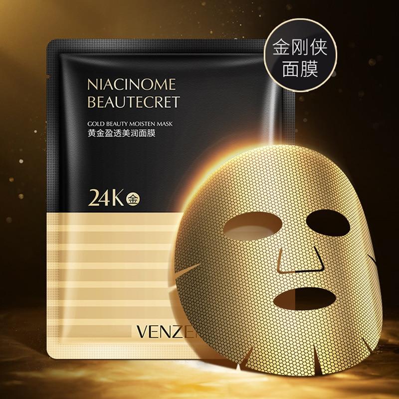 1/3/10 Uds. Mascarilla para hombre King Kong hidratante que reduce los poros aclarando el Color de la piel máscara dorada de 24K para el cuidado de la piel coreana