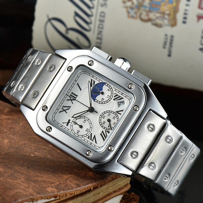 Top Brand Luxury Men's Watch Business Casual Quartz Watch 30M Waterproof Clock AA Reloj de los hombres 2021 New