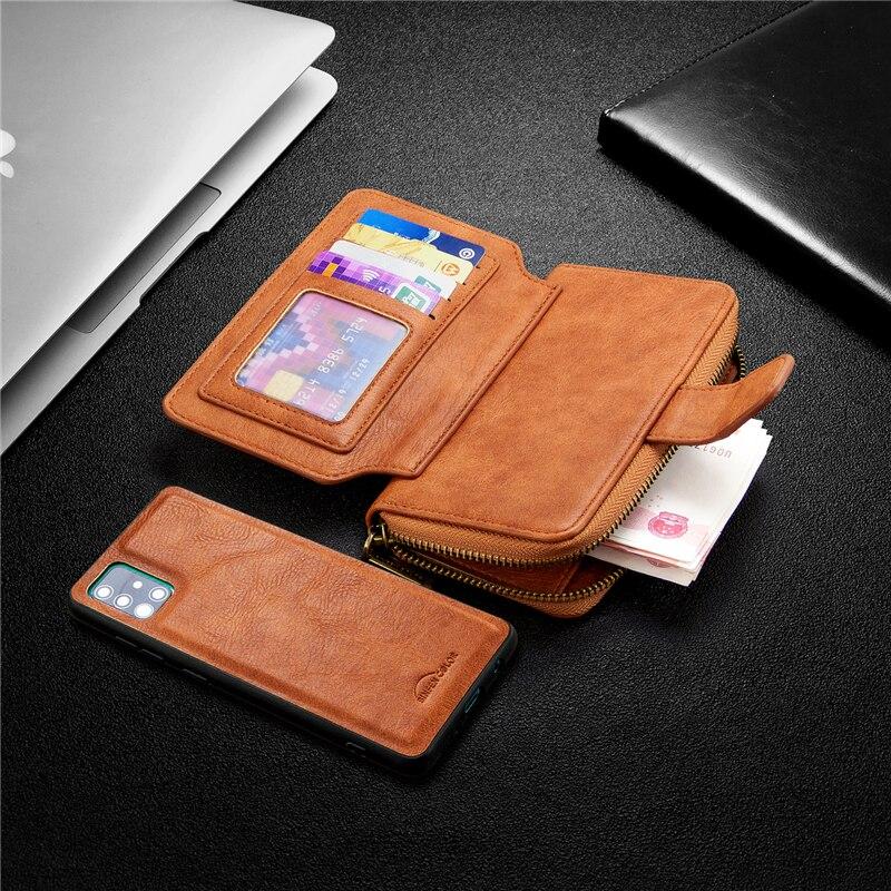 Funda de piel para Xiaomi Redmi Nota 9S 8T 9 8 7 Pro Max 7A 8A imán 2 en 1 bolso funda billetera para Xiaomi Mi 9T Nota 10 Pro