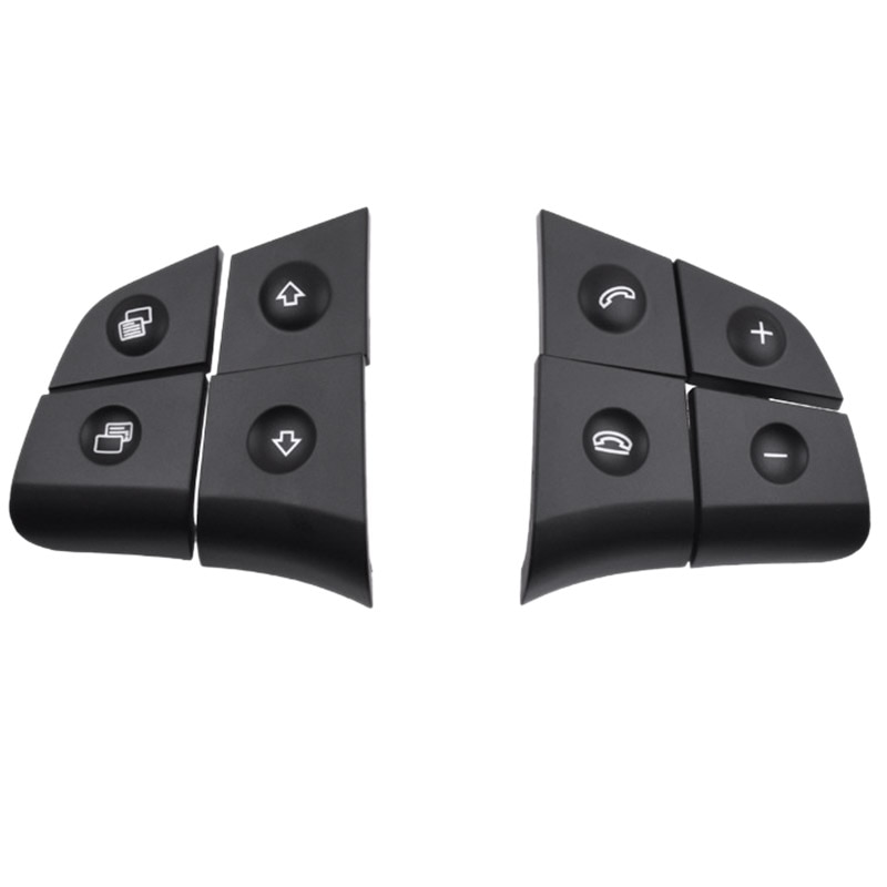 Car Multifunction Audio Steering Wheel Button for Mercedes-Benz W164 GL ML 2006-2009 Black