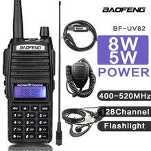 8W Baofeng UV 82 talkie-walkie émetteur-récepteur UV82 talkie-walkie VHF UHF Scanner Radio UV-82
