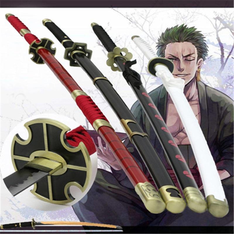 تأثيري رورونوا زورو تشيو شوي ثلاثة سكين شبح قطع Ver شو زو كاتانا السيف لعب الأدوار سورون سانداي كيتيتسو الخشب الدعامة 104 سنتيمتر