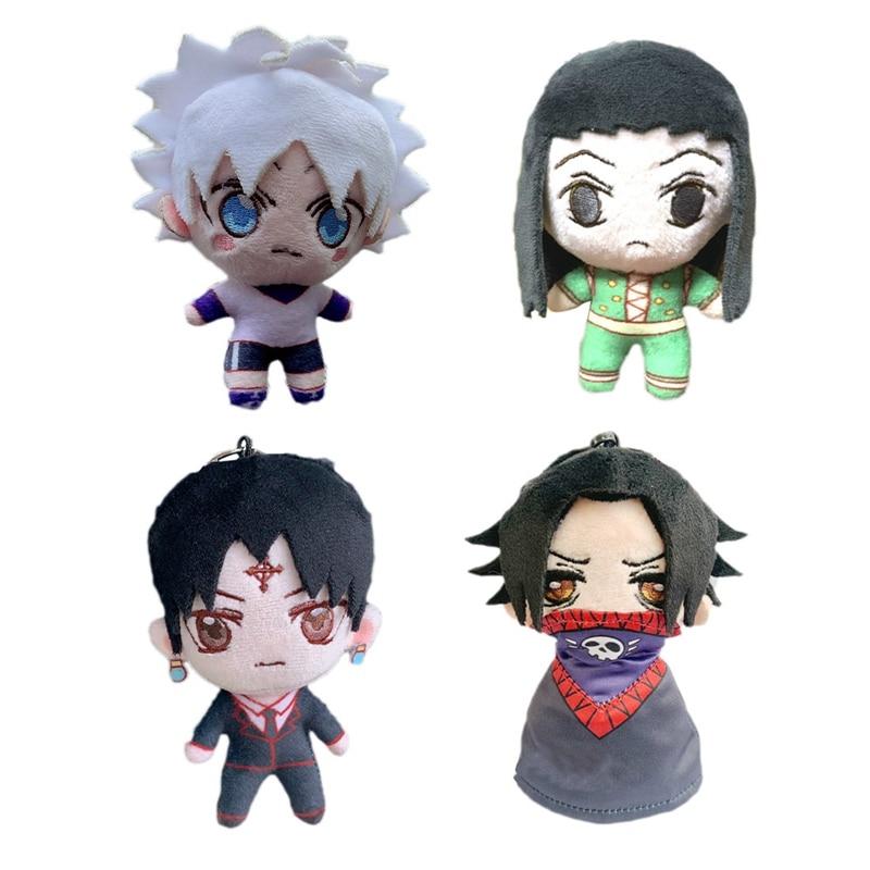 Desenhos animados anime hunter x hunter modelo boneca de pelúcia pingente zoldyck killua illumi morow hisoka brinquedo de pelúcia