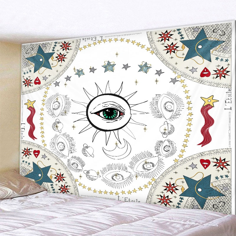 mandala style Mandala Nordic INS Style Wall Tapestry Divination Witchcraft Wall Tapestry Mandala Wall Decoration Tapestry Bedroom Tapestry