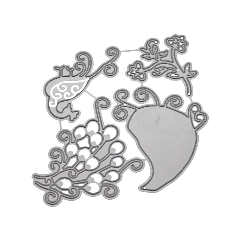 Павлин металлические режущие штампы Трафаретный Скрапбукинг DIY штамп для альбомов тиснение бумаги GXMA