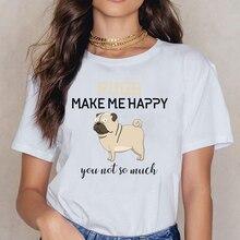 Tops T Shirt Women Labrador Retriever German Shepherd Poodle Boxer Womens Organic  Fashion White Print Female Shirt