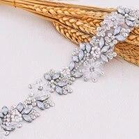 luxury wedding belts bridal belts rhinestone belt organza belt bridal glitter women belt jewelry belt for bride