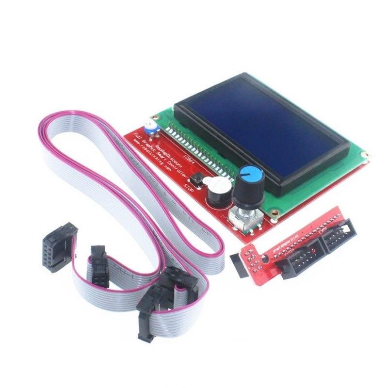 Placa de Control LCD12864, 2 piezas, Cable de 30cm, Panel de Control LCD, impresora 3D, controlador mágico eléctrico