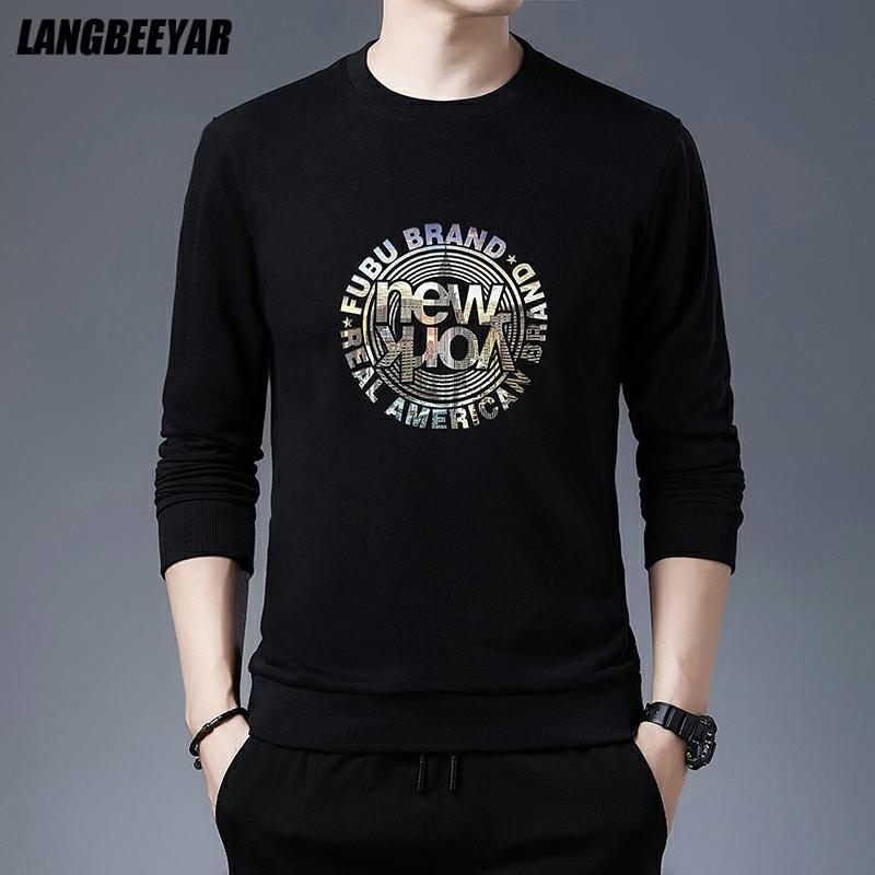 Топ качество новый бренд Повседневная мода Crewneck графический пуловер с капюшоном без капюшона мужские осенние простые толстовки мужская од...