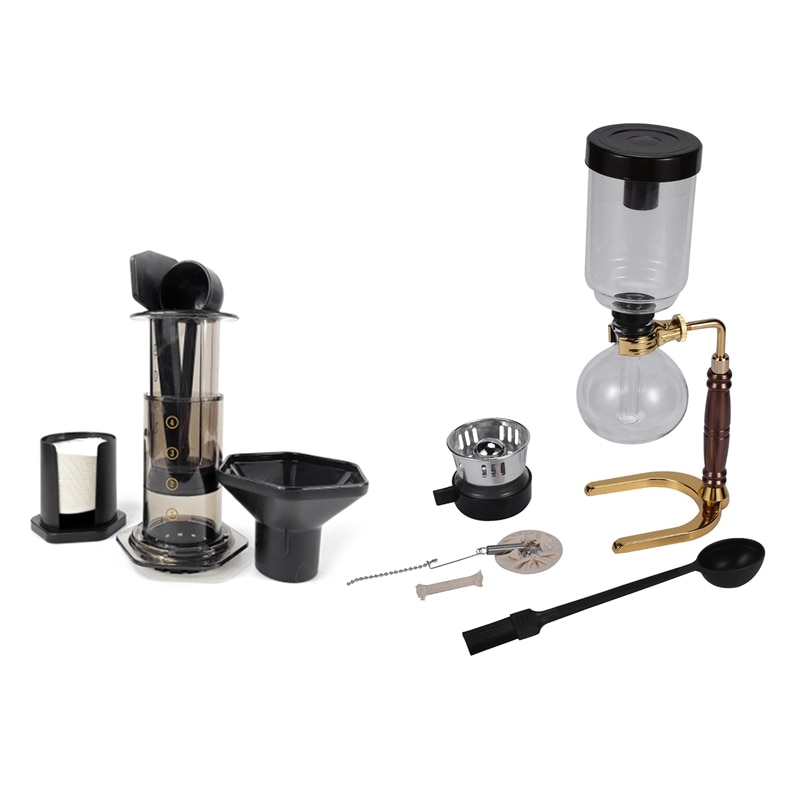 1 قطعة النمط الياباني سيفون آلة صنع القهوة و 1 مجموعة تصفية الزجاج إبريق قهوة اسبريسو