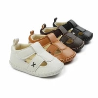 2021 new baby shoes soft sole sandals pu leather baby boy shoes casual baby boy shoes