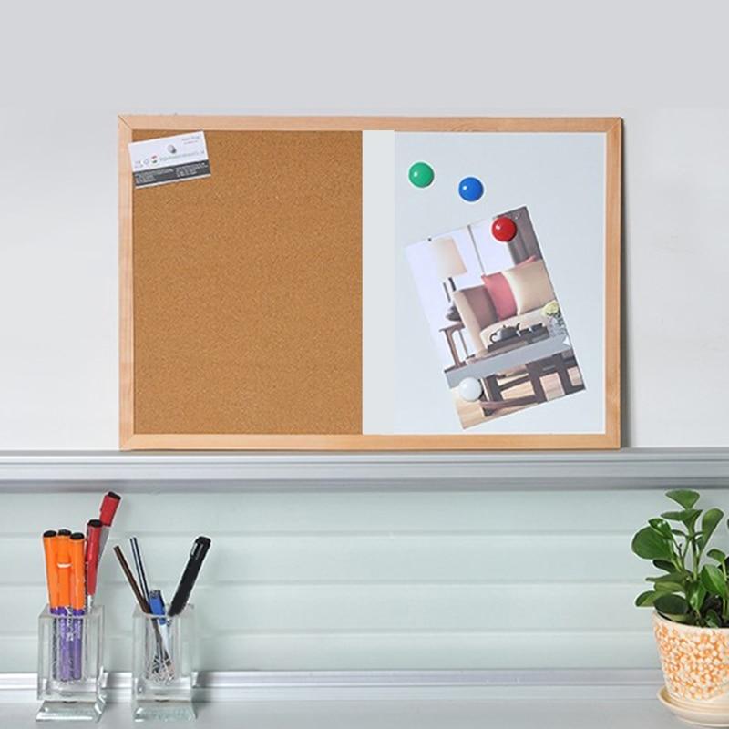 Доска для сообщений, деревянная рамка, доска для рисования, комбинированные магнитные доски
