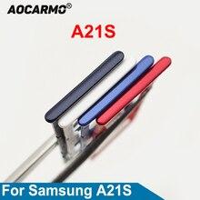 Aocarmo Sim Card Slot Tray SD Reader Holder For Samsung Galaxy A21S A217 Dual SIM Card Tray Holder R