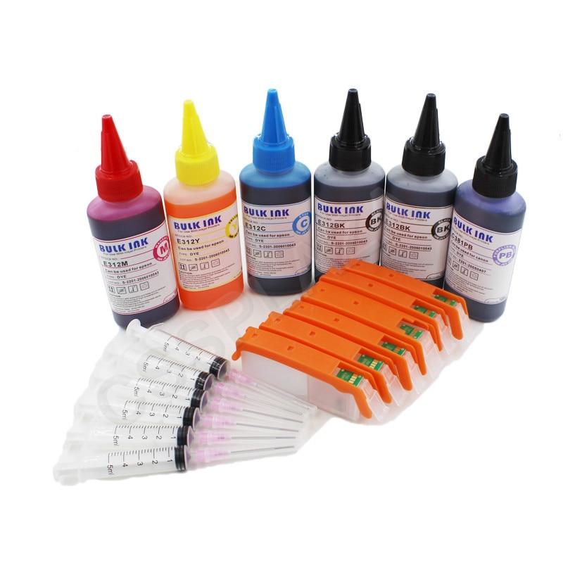 سيسبلازا 6 لون pgi570 PGI-570 خرطوشة حبر الملء + الحبر متوافق مع طابعة كانون بيكسما MG5700 MG6800 TS5055 TS9050 TS9055