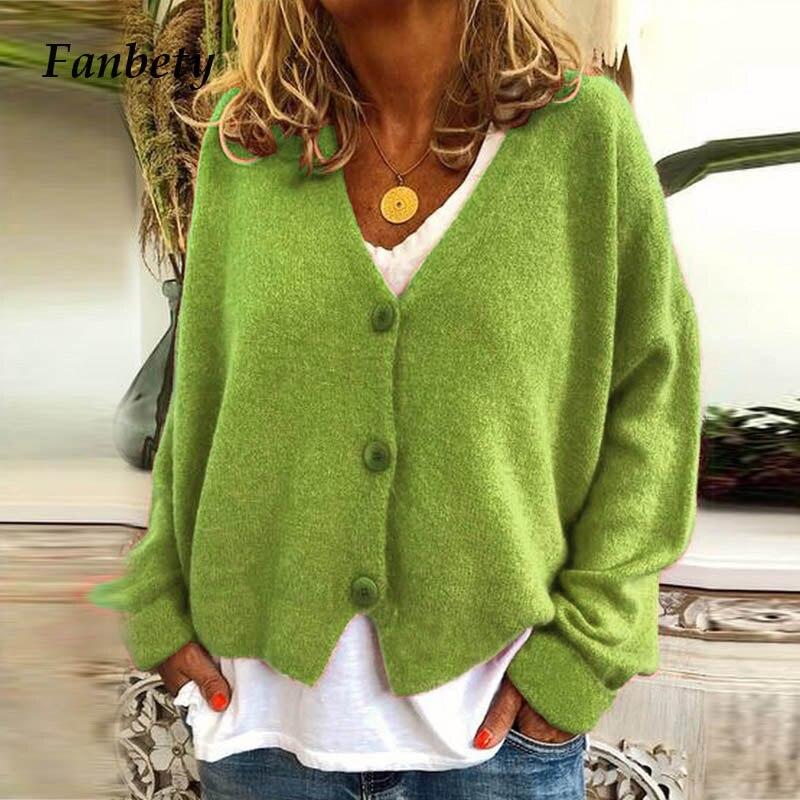 15 bonbons couleurs Cardigan chandail femmes automne bouton chandails femme décontracté à manches longues tricoté chandail 2019 tenue dhiver
