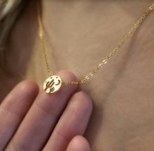 Acier inoxydable Bijoux lune étoiles Cactus collier ras du cou pour femmes désert nuit vue mignon rond pendentif collier Bijoux Femme