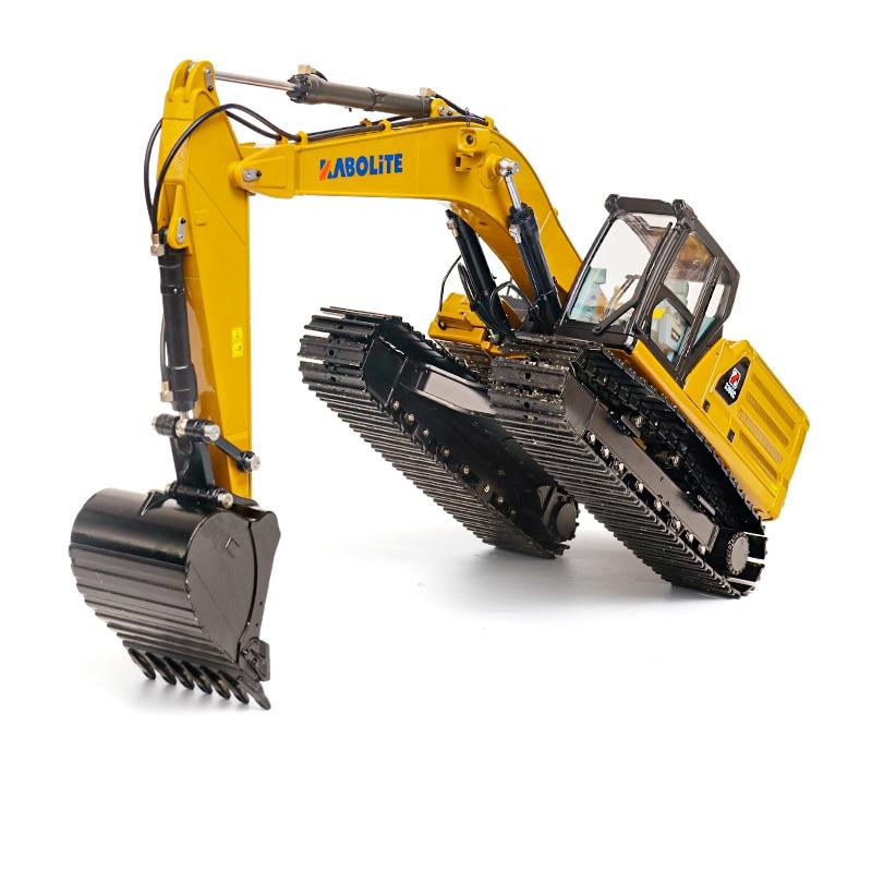 HUINA 2.4G 1/16 RC K336GC Metal Hydraulic Excavator Model Gift Car Battery Radio TH18067-SMT6