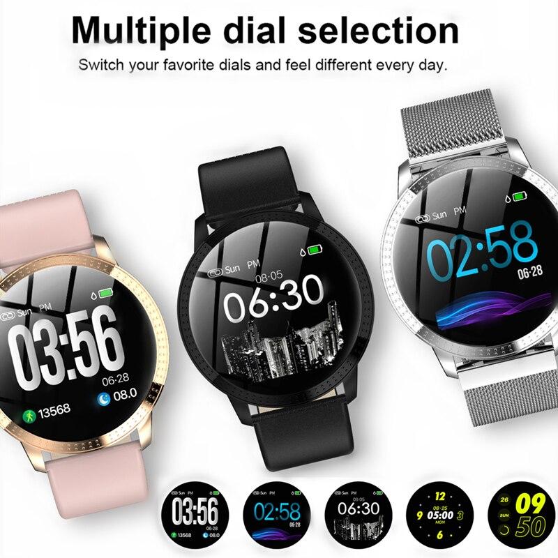 CF18 1,22 zoll Smart Uhr IP67 Wasserdichte Blutdruck Überwachung Metall Strap Multi Sport Modi Frauen Smart uhr