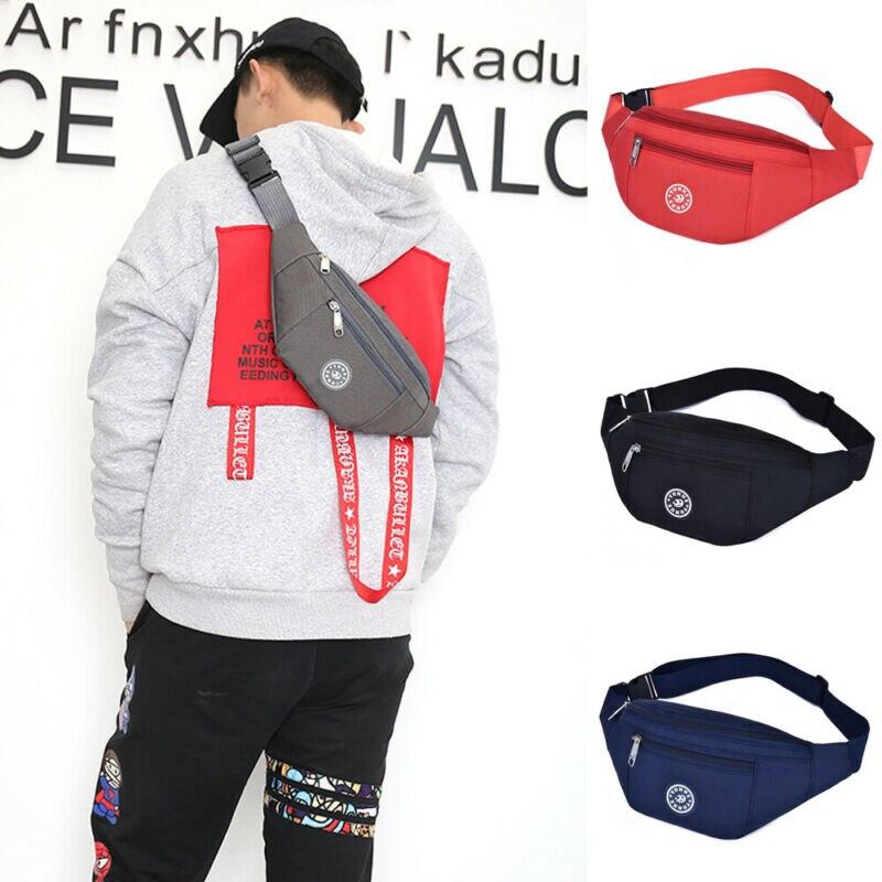 Mężczyźni kobiety saszetka na pas piterek saszetka na pieniądze portfel Zip torba podróżna na wycieczki piesze