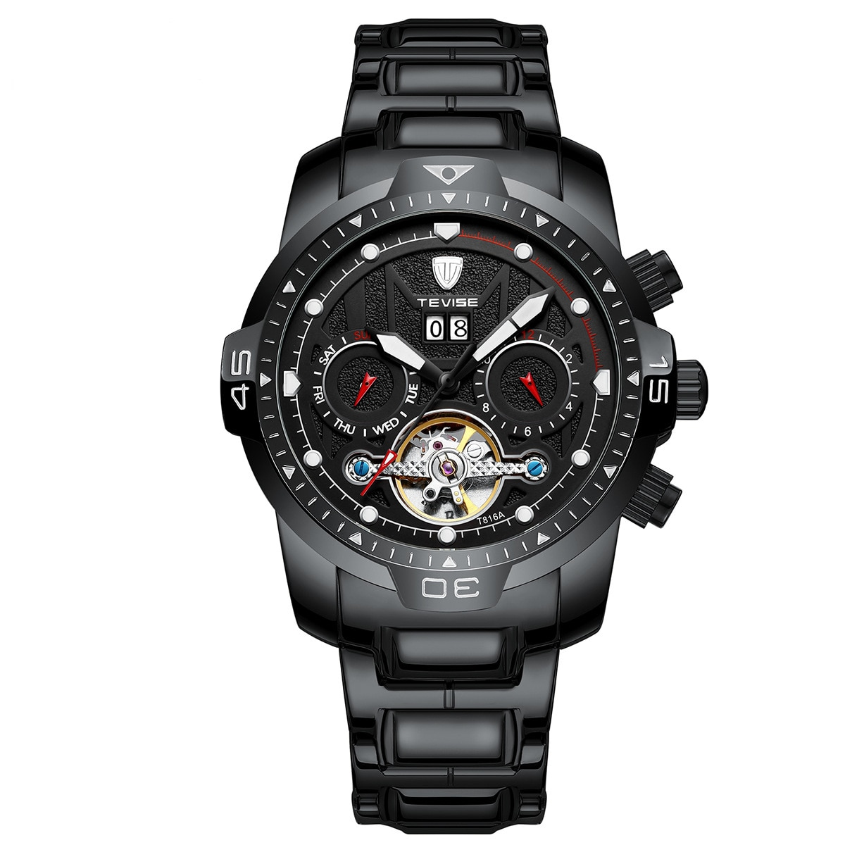Fashion High-end Limited Multifunctional Mechanical Watch European and American Waterproof Watch Student Sports Watch Men's enlarge