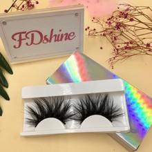FDshine 6 paare/los 27mm Wimpern mit Holographische Lash Verpackung Real Nerz Wimpern