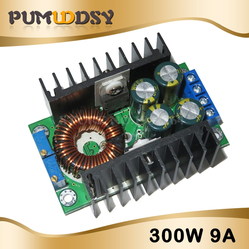 DC CC Max 9A 300W convertidor Buck de reducción 5-40V a 1,2-35V módulo de fuente de alimentación XL4016 LED controlador de baja salida Ripple