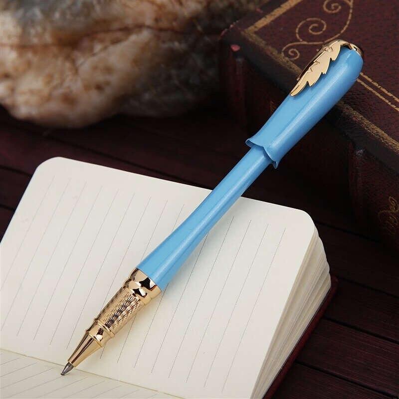 Picasso 986 grec Irene Pimio Rollerball stylo femme cadeau bleu ciel bourgeon casquette feuille pince bureau Signature devoirs examen écriture