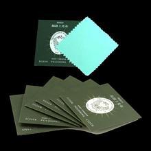 Chiffon de polissage pour le nettoyage des bijoux, 8.3x8.3cm, 1 pièce, peau de vache, velours, argent Sterling, plaqué or, bijoux, nettoyant pour le ternissement