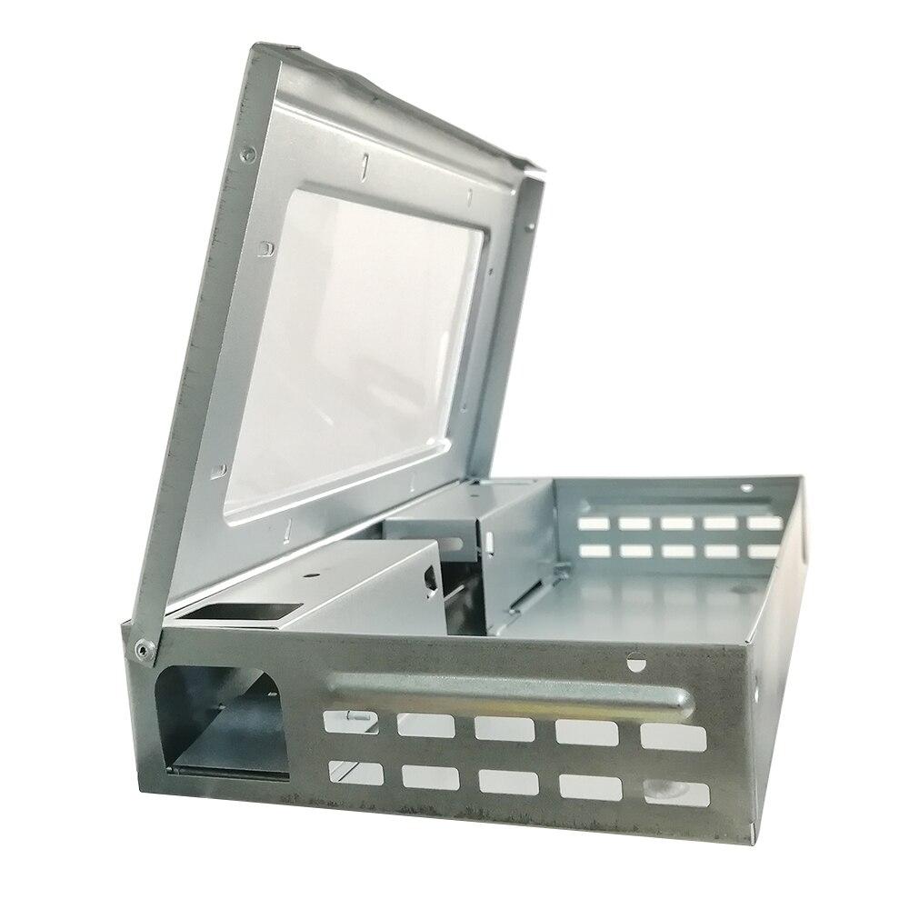 Купить с кэшбэком 20 PCS/LOT Catching Deratization Poisonous Rats Box Stainless Steel Bait Station Mousetrap