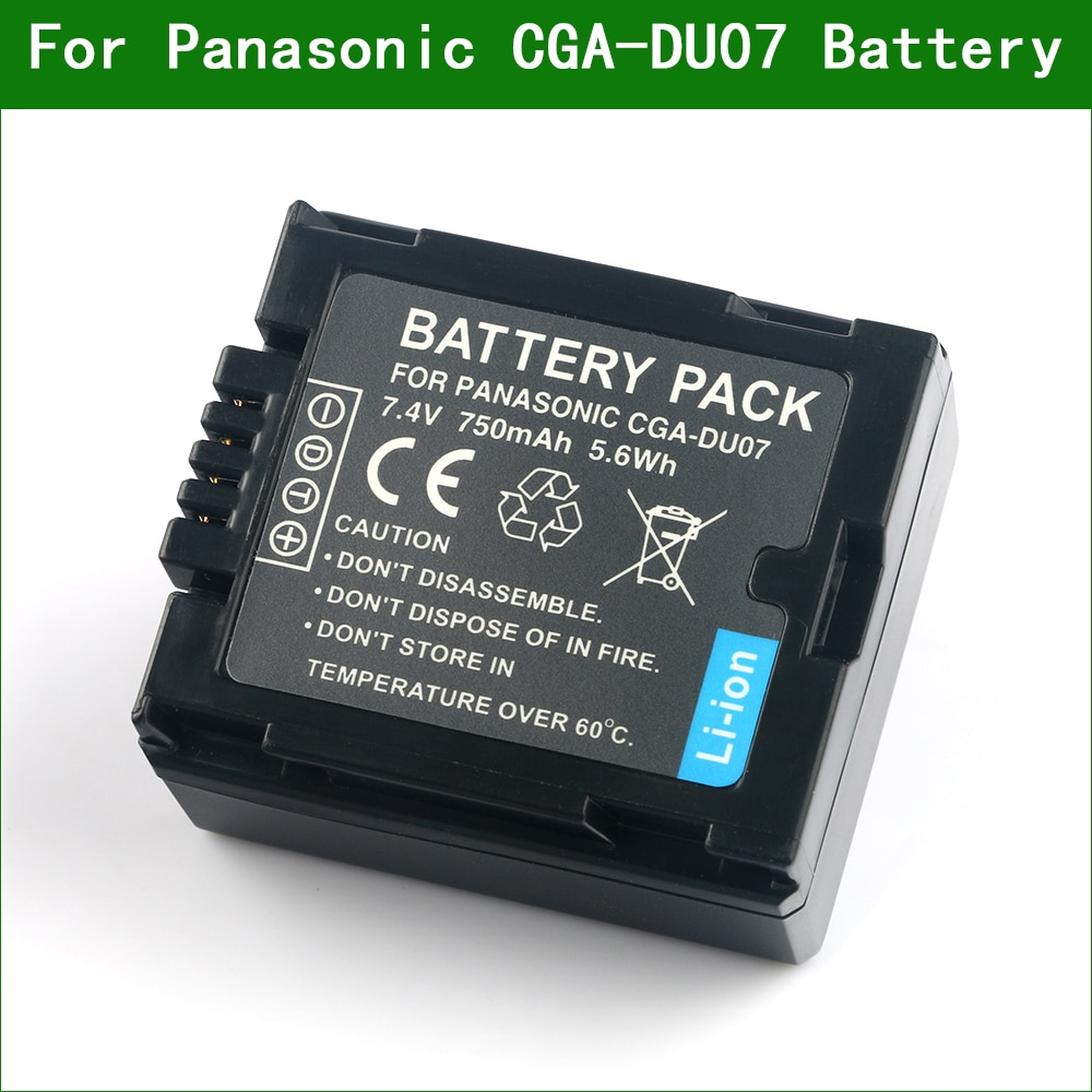 Цифровой аккумулятор LANFULANG Camcorder совместим с Panasonic CGR-DU06 VW-VBD070 NV-GS47 NV-GS50 NV-GS27 SDR-H20 NV-GS57 NV-GS58
