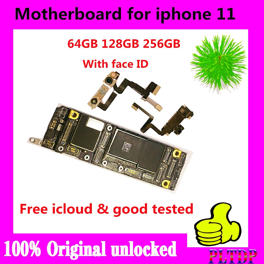 Review For iPhone 11 Motherboard 256G 128G 64G With/Without Face ID 100% Original unlocked  mainboard For iPhone 11 Logic Board