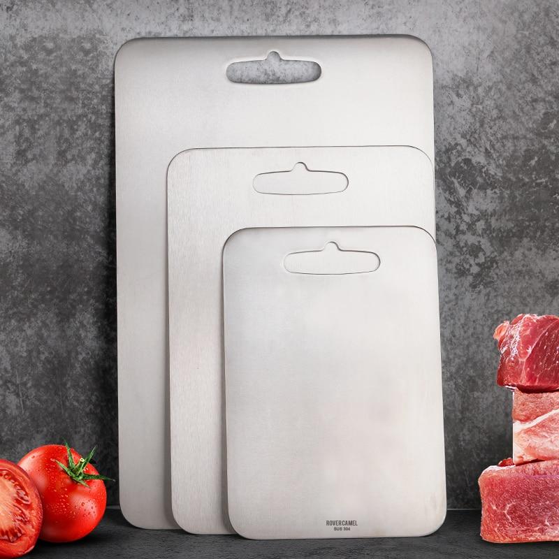 Rover Camel, tablas de corte de cocina de titanio o acero inoxidable, placa de yunque duro, placa de fruta para uso doméstico