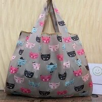 reusable shopping bag grocery bag foldable lady bag travel bag shoulder bag bag bag bag durable nylon 2021