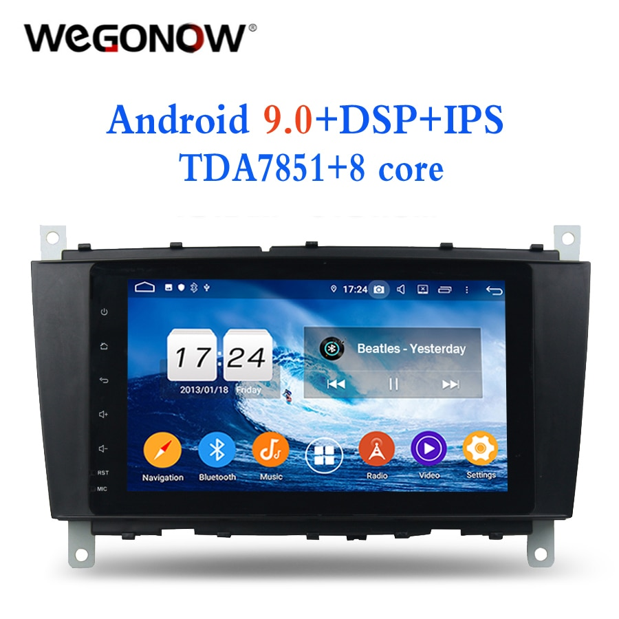 IPS TDA7851 Android 9,0 para Benz W203 W467 W209 W219 4G RAM 8 core reproductor de DVD de coche 2DIN Wifi BT RDS sintonizador de RADIO GPS Glonass mapa