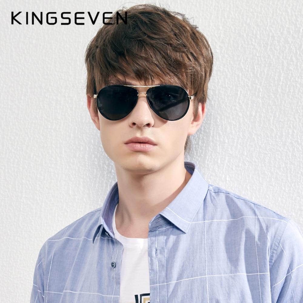 KINGSEVEN nuevo fotocromáticos Gafas de sol polarizadas de los hombres de aluminio...