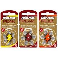 60 PCS RAYOVAC PEAK Zinc Air Hearing Aid Batteries A312 312A ZA312 312 PR41. A10 10A 10 PR70.13A A13 13A 13 P13 PR48 Battery