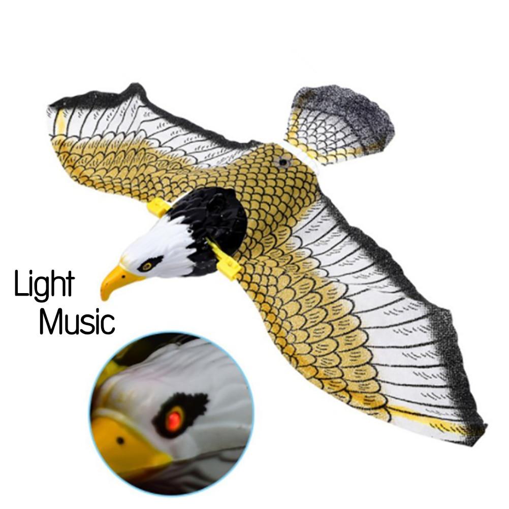 Luminous Bird With Music Repellent Hanging Eagle Flying Bird Scarer Garden Decoration Portable Flying Bird Garden Decoration