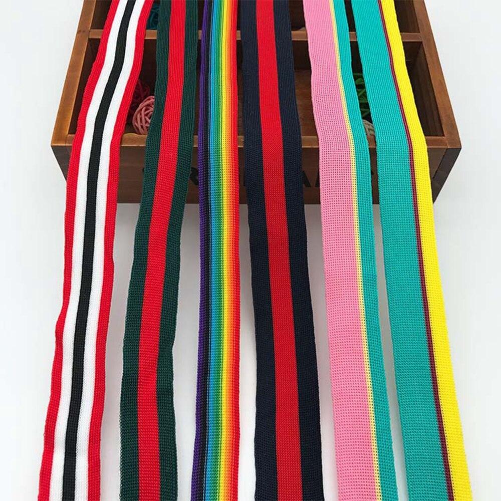 Cintas de colores de estilo de serie a rayas, cinta de punto, cinta decorativa para ropa, pantalones, cinta lateral, Material auxiliar, paquete DIY de cinta