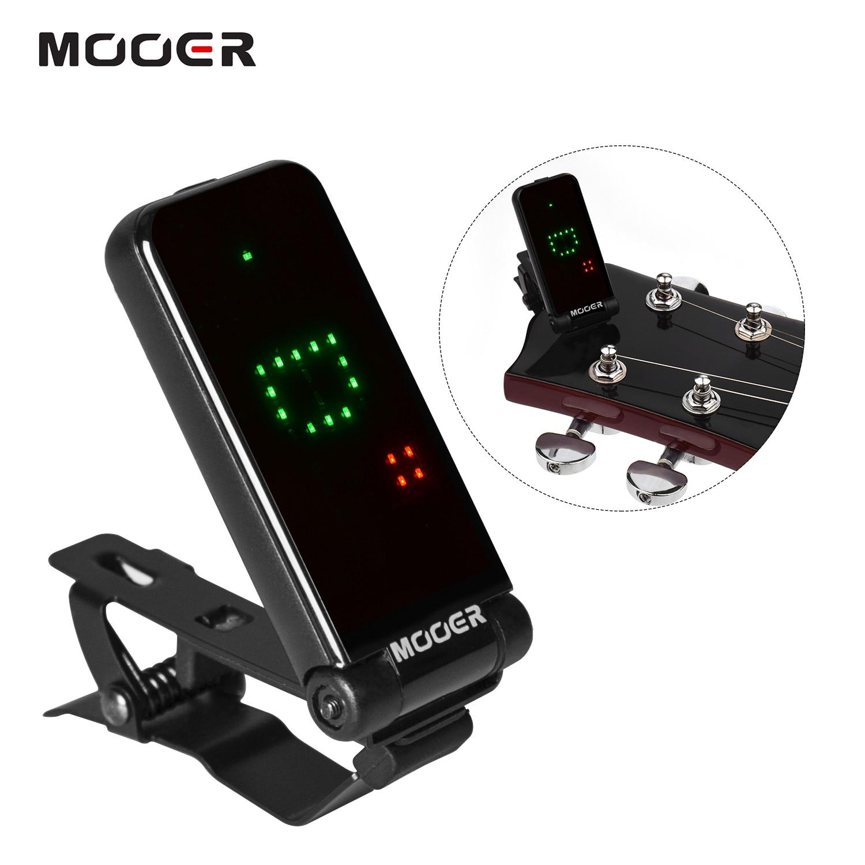 MOOER CT-01 Guitar Bass Guitar Clip-On Tuner Gravity Sensitive Full-Screen Display 180 Rotatable Metal Clip guitar accessories