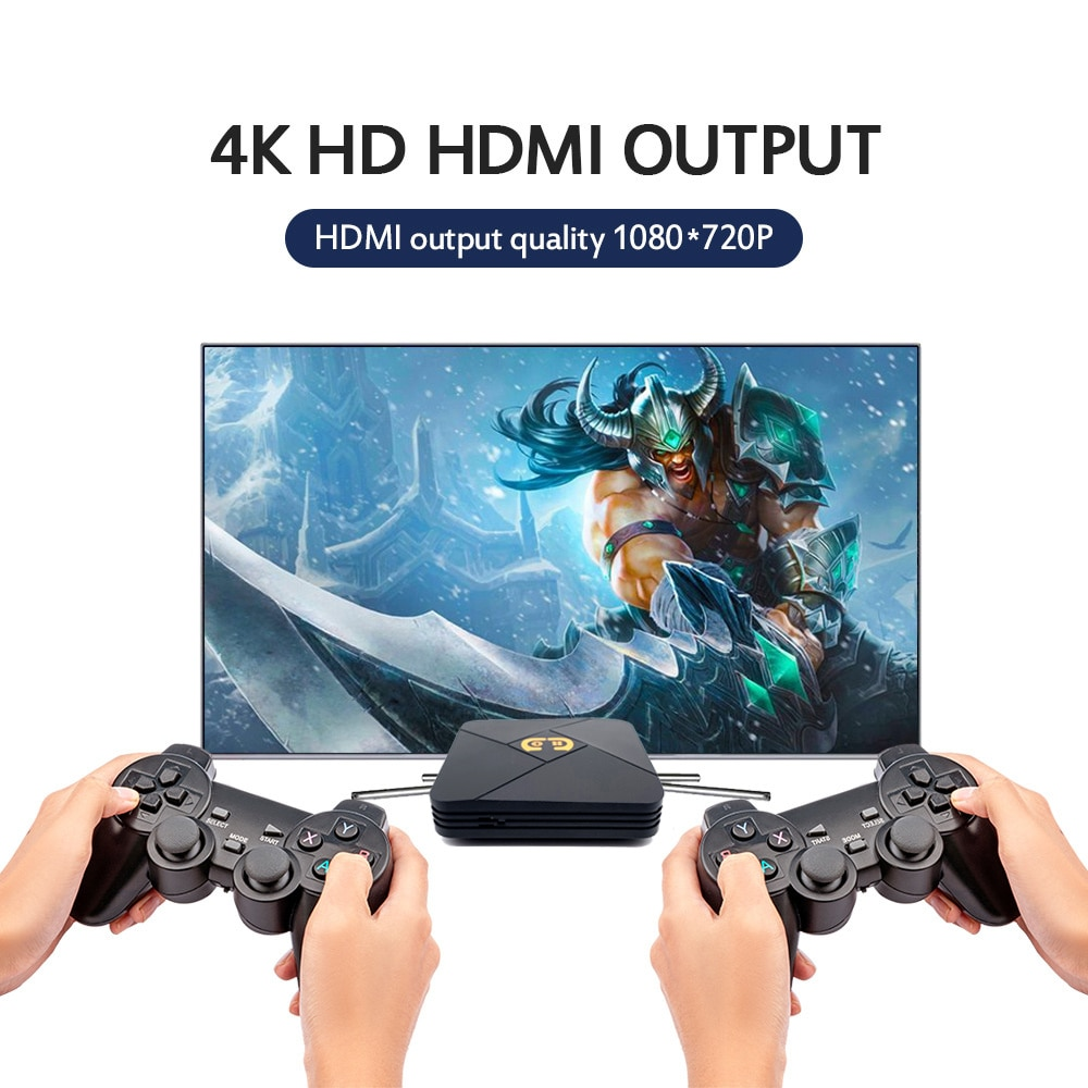 New Video Game Console Dual System Support Av Hd Wifi 4K Android TV Box Retro Game Player Classic for PS1 N64 Psp Games Players enlarge